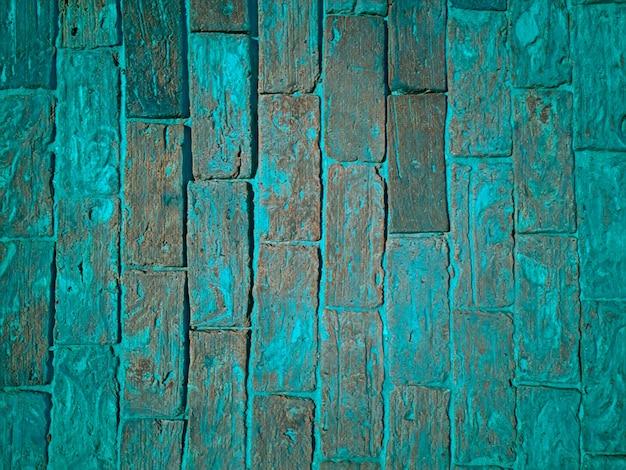 Surface with texture of bluish bricks.