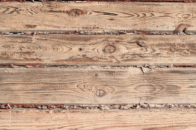 The surface of a wooden wall painted brown color. old wood texture.
