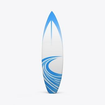 白い壁にサーフボード