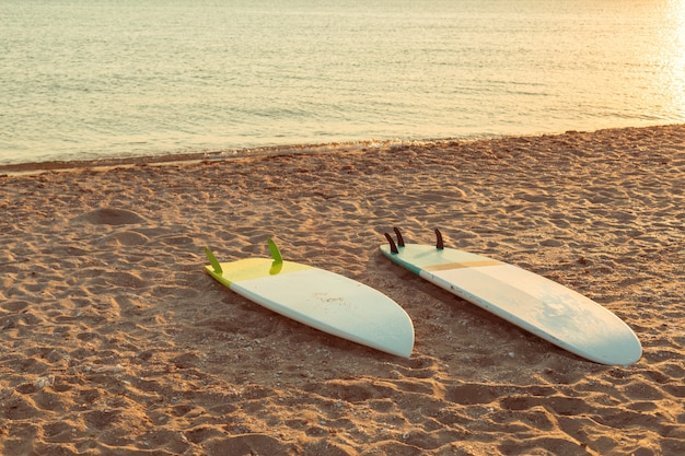 Surfboards on the beach