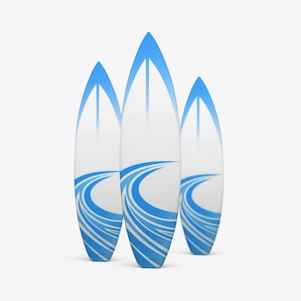 Surfboards on a white wall