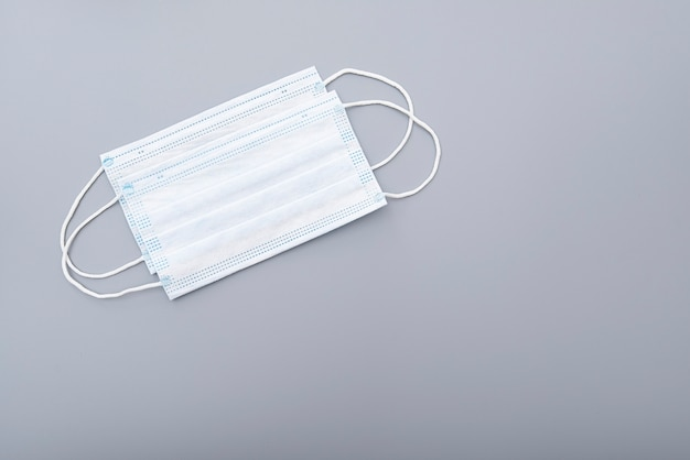 Surgical mask, medical mask on gray