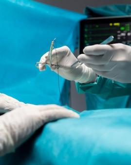 Surgical procedure made by doctor