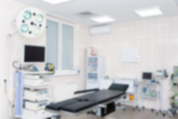 Surgical room modern equipment in the hospital