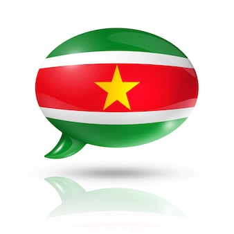 Суринам флаг речи пузырь