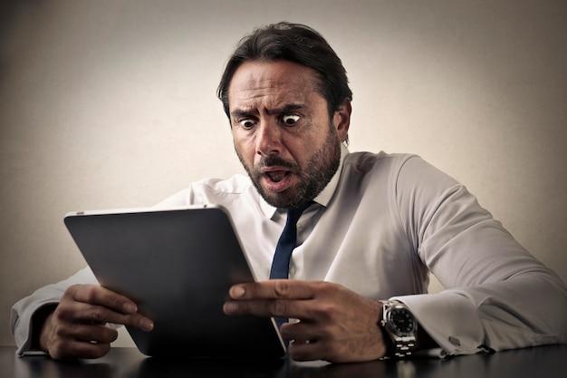 Surprised shocked businessman