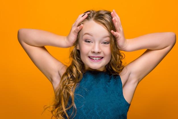 The surprised teen girl