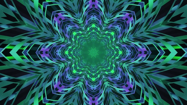 Surreal abstract tunnel 4k uhd 3d illustration