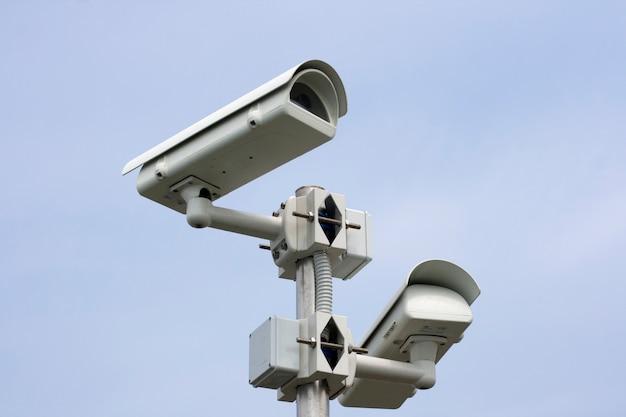 Surveillance camera on sky