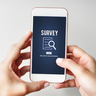 Survey results analysis discovery investigation concept