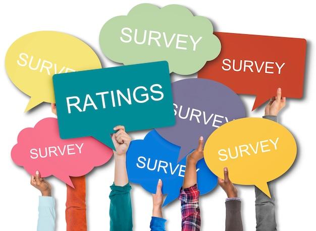 Survey speechbubbles