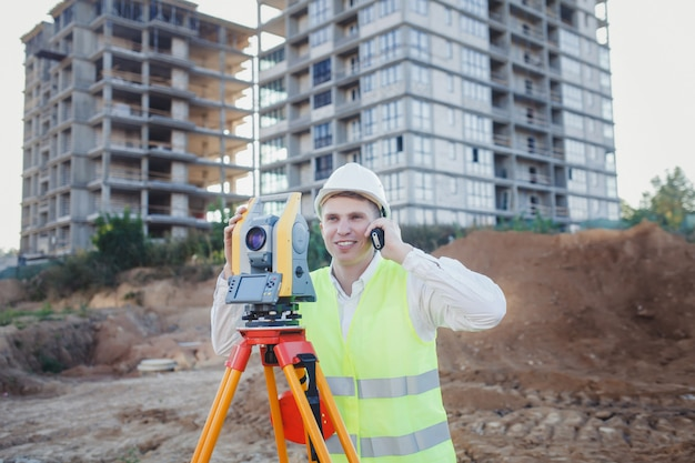 Surveyor engineers working
