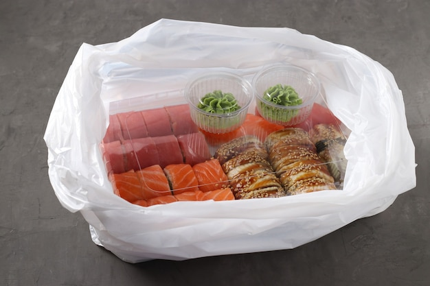 Sushi to go concept