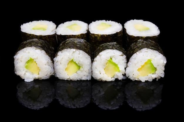 Sushi hosomaki with avocado