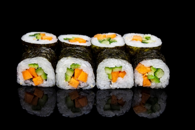 Sushi hosomaki with veggies