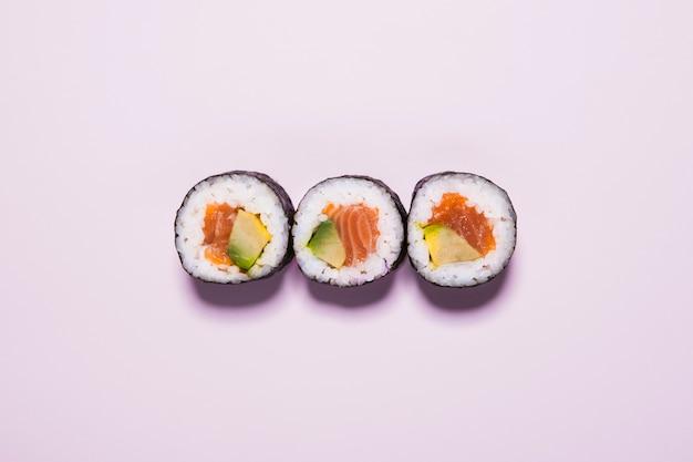 Sushi on pink