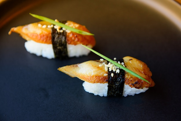 Sushi ready for party, event, meeting, celebration.