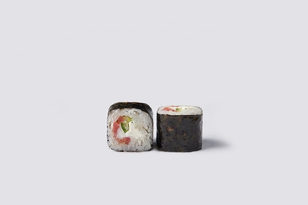 Sushi roll isolated on white space