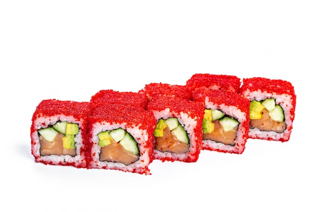 Sushi roll with fresh ingredients