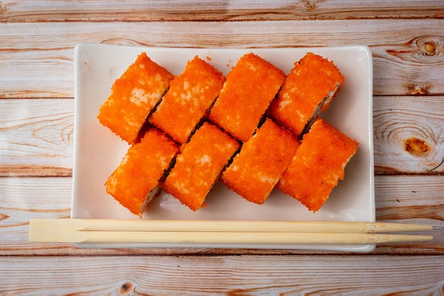 クリームチーズとサーモンの巻き寿司