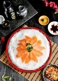 Sushi salmon sashimi