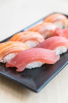 Sushi salmon and tuna