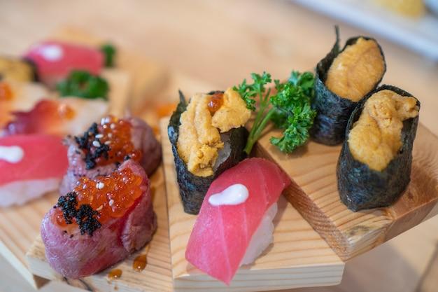 Sushi, sashimi, fresh seafood, japanese food
