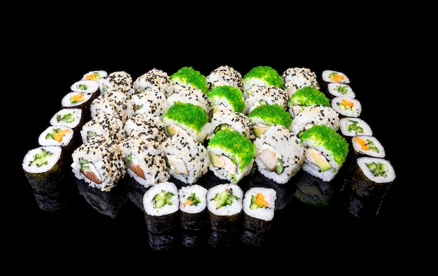 Sushi set with different styles