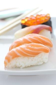 Sushi in white
