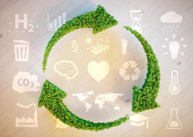 Sustainable development concept