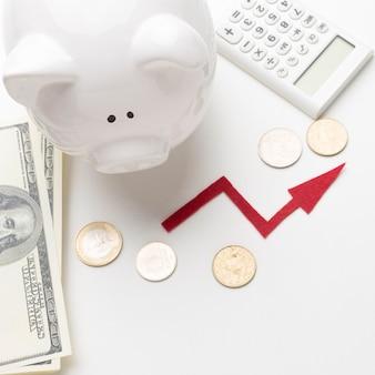 Sustainable economy with piggy bank Free Photo