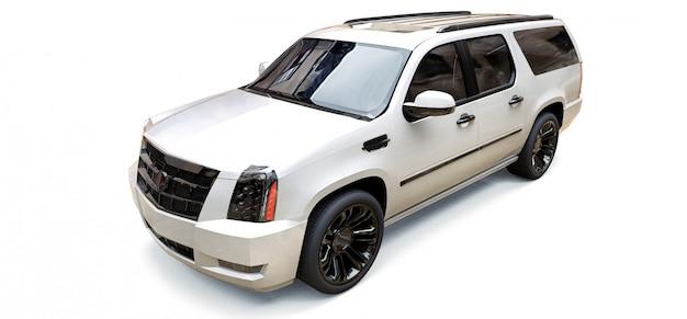 大きな白いプレミアムsuv車