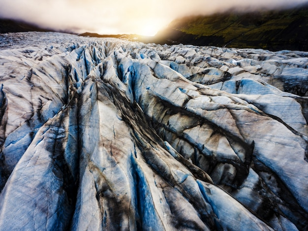 Svinafellsjokull glacier in vatnajokull, iceland.
