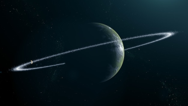 リング付きの沼地の太陽系外惑星