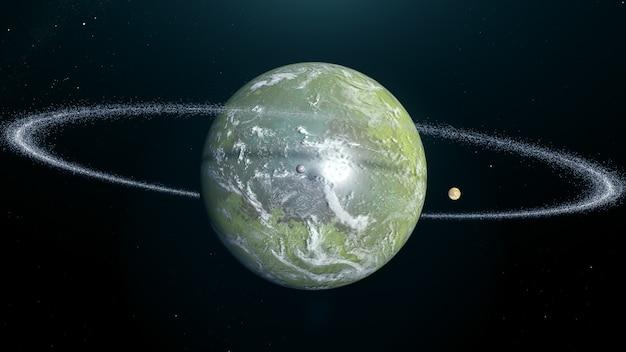 고리가있는 외계 행성 늪