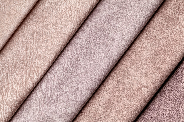 Swatch of velvet textile brown shade colors,.