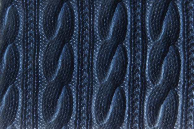 Sweater or scarf texture large knitting. knitted jersey background with a relief pattern