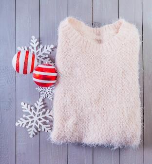 Sweater on wood
