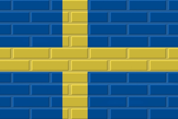 Sweden brick flag illustration