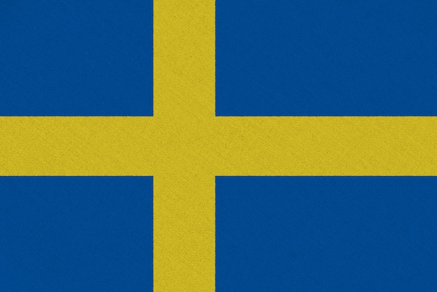 Sweden fabric flag