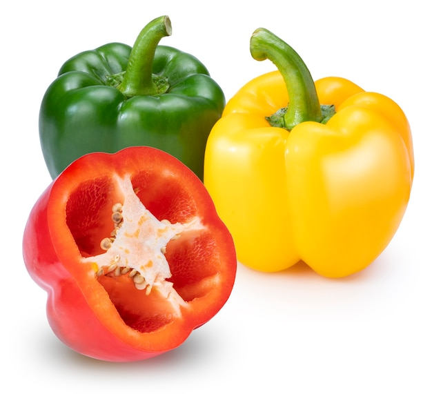 Sweet bell pepper isolated on white space.