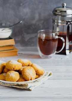 달콤한 비스킷 옥수수 가루 쿠키