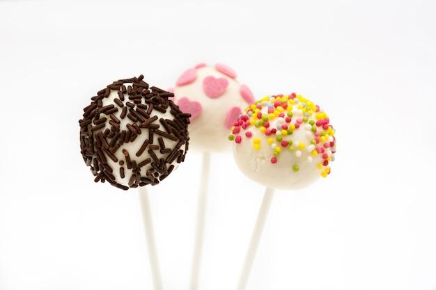 Sweet cake pops isolated