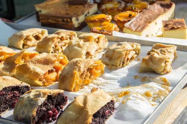 スウィートケーキ屋台の食べ物