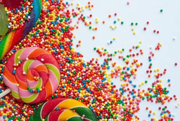 甘いキャンディーとロリポップ
