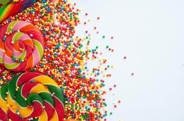 달콤한 사탕과 막대 사탕