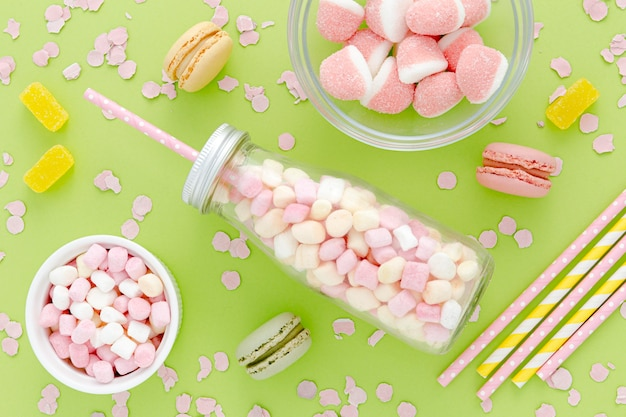Sweet candies for party