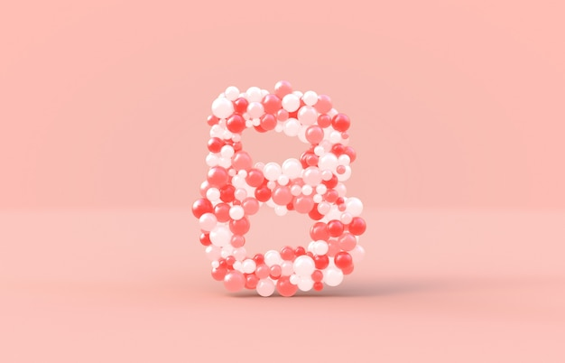 Sweet candy balls letter b.