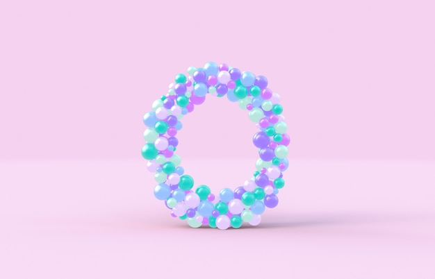 Sweet candy balls letter o
