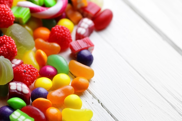 Sweet candy white background